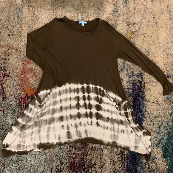 She and Sky Dresses & Skirts - Long sleeve tie dye tunic/ dress